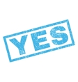 Yes Rubber Stamp vector image
