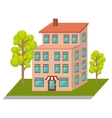 exterior cute building icon vector image