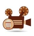 camera movie vintage pop corn icon design vector image