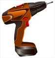 electric screwdriver vector image