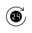 24 hours with arrow roun icon vector image vector image