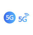 5g icons set vector image vector image