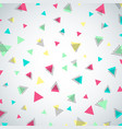 abstract colorful repeating confetti triangle vector image vector image