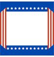 american abstract flag patriotic border vector image