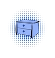 Blue chest comics icon vector image vector image