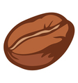 brown roasted coffee bean vector image vector image