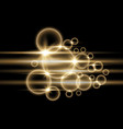bubbles with light golden color vector image vector image