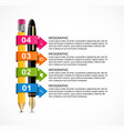 business infographics template infographics for vector image vector image