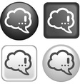 button speech vector image vector image