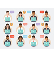 call center and customer service people vector image