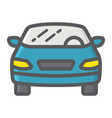 car filled outline icon transport and automobile vector image vector image