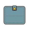 cartoon blue wallet save money icon vector image