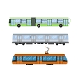 City road tram and trolleybus transport vector image vector image