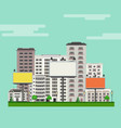 city skyline with multistorey apartment and office vector image vector image