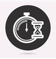clock time icon stopwatch timer symbol vector image