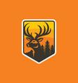 colorful deer logo design template vector image vector image