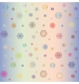 Colorful snowflakes on a multicolor background vector image