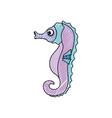 cute sea horse vector image