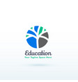 education or skill logo concept with creative vector image vector image