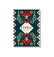 ethnic design abstrat colorful ethno tribal vector image vector image