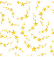 falling star seamless pattern background business vector image vector image