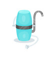 filter with metal faucet device for water vector image vector image