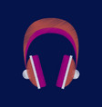 flat shading style icon headphones stereo vector image vector image