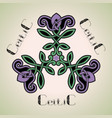 flower pattern in the celtic style vector image vector image