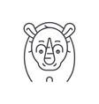 funny rhino line icon concept funny rhino vector image vector image