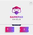 Game shield logo design template icon element