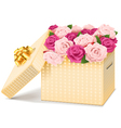 Gift Box with Flowers vector image vector image