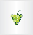 green grape icon logo symbol sign vector image