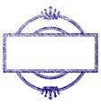grunge textured crown round and rectangle frame vector image