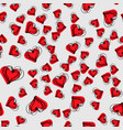 hand drawn background with hearts seamless grungy vector image vector image