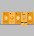 home decoration items onboarding vector image vector image