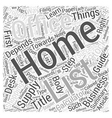 Home Office Supply Shopping Guide Word Cloud vector image vector image