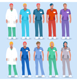 Hospital 01 People 2D vector image vector image