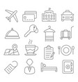 hotel line icons vector image vector image