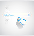 internet search concept with search box and pixel vector image vector image