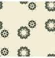 Irregular ornamental outlined floral tile vector image