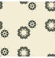 Irregular ornamental outlined floral tile vector image vector image