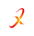 letter X symbol abstract logo vector image