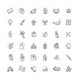 magic and alchemy thin line art icons set vector image