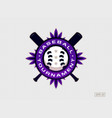 modern professional emblem for baseball tournament vector image vector image