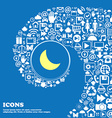moon icon Nice set of beautiful icons twisted vector image