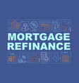 Mortgage refinance word concepts banner