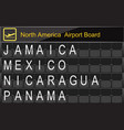 north america country airport board information vector image vector image