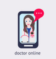 online medical consultation and support online vector image vector image