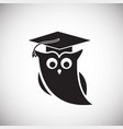 owl of wisdom on white background vector image