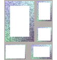 Pixel mosaic page border frame set vector image vector image
